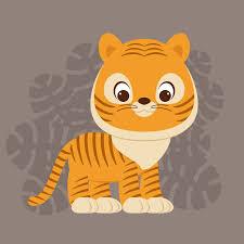 how to create a cute cartoon tiger