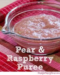 pear raspberry baby food puree