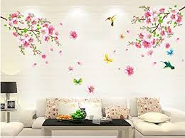 Good Life Pink Cherry Blossom Tree Wall Decal Flower Floral Wall Sticker With Butterfly Vinyl Art Wall Decal Wall Decal Mural Coconuas45