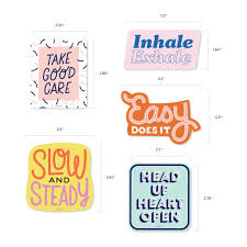 Self Care Sticker Pack 5 Vinyl Decal Stickers Free Period Press