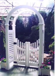 Pvc Resort Line Arbor Gates New York Wayside Fence