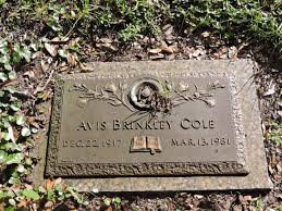 Avis Brinkley Cole (1917-1981) - Find A Grave Memorial