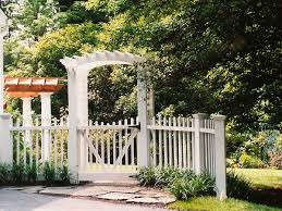 White Picket Fence With Gate And Arbor Traditional Garden Dc Metro By Land Art Design Inc Houzz Au