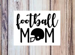 Football Mom Vinyl Decal Cup Decal Tumbler Water Bottle Etsy