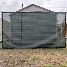 Custom Privacy Fence Screens Windscreen Tarp 8oz Vinyl Coated Mesh 80 Solid Lookout Mountain Tarp