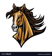 Horse mustang head esport logo cartoon Royalty Free Vector