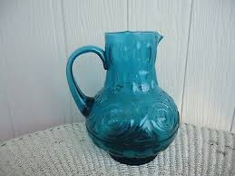 vintage retro italian teal blue glass
