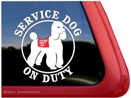 Poodle Service Dog Decals Stickers Nickerstickers