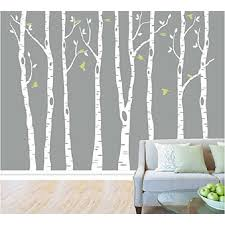 Tayyakoushi White Birch Tree Wall Decal Nursery Classical Tree Wall Stickers Tree Wall Decals For Kids Room Living Room Wall Decor Set Of 8 Wall Mural Walmart Com Walmart Com