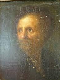 Ecole Hollandaise du XVIIème siècle-Portrait d'homme-Tableau ancien- A  restaurer | eBay