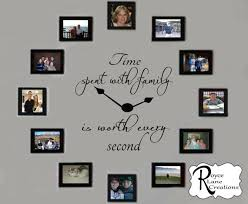 Time Spent With Family Decal Time Spent With Family Clock Etsy