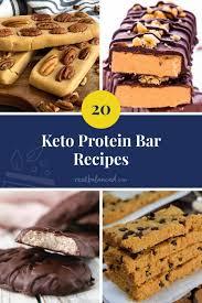 20 keto protein bar recipes