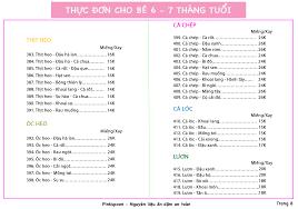 Thực Đơn Ăn Dặm Cho Bé 6 - 7 Tháng - PinkSpoon