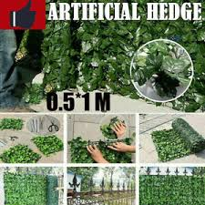 0 5 1m Artificial Faux Ivy Leaf Privacy Fence Screen Garden Panels Outdoor Hedge Ebay