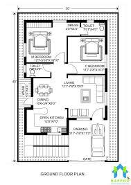 floor plan for 30 x 40 feet plot 2