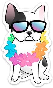 Amazon Com Stickeroonie Vinyl Sticker French Bulldog Vinyl Decals Frenchie Dog Lei Hawaiian Laptop Stickers Skateboard Stickers Hydroflask Stickers Car Stickers Phone Stickers 4 X 3 Arts Crafts Sewing