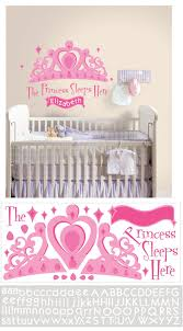 Princess Sleeps Here Personalized Wall Decal