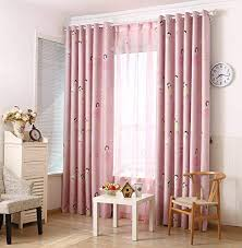 Amazon Com Lqf Country Home Decor Pink Curtains For Bedroom Living Room Dining Room Teens Kids Girls Room Decorations Drapes One Panel W40 X L84 Inch Kitchen Dining