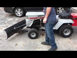 update craftsman tractor snow plow