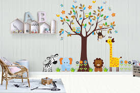 Jungle Wall Decals Safari Wall Decals Nature Wall Stickers Nurserydecals4you