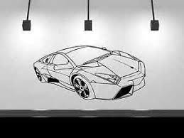 Lamborghini Vinyl Decal Black Or White Lambo Wall Art 13 X 21 Sports Car 793118130492 Ebay