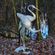 cranes large ornamental metal sculpture