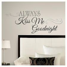 11 Always Kiss Me Goodnight Peel And Stick Wall Decal Black Roommates Target