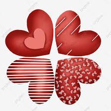 القلب الأحمر الإبداعي شكل قلب أحمر زخرفة الحب قلب أحمر مخطط قلوب