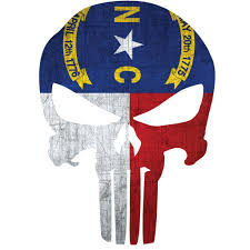North Carolina Flag Punisher Skull Window Decal Police Fire Ems Viny Graphics Stickers Decals Dkedecals