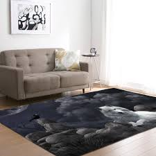 Nordic Style 3d Wolfs Carpet Boys Room Decor Bedside Rug Kids Play Area Rug Soft Flannel Home Decor Living Room Carpet Rugs Carpet Aliexpress