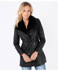 faux leather long belted biker jacket