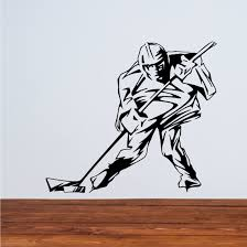 Hockey Player Wall Decal Vinyl Decal Car Decal Cds110