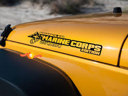 Product Side Hood Marine Corps Usmc Decal Vinyl Graphic For Jeep Wrangler 27 X5