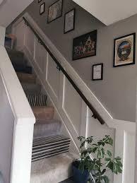 woman transforms her drab staircase