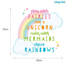 unicorn quote wall sticker unicorn wall stickers stickerscape uk