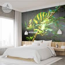 Chameleon Wall Mural Chameleon Self Adhesive Peel Stick Photo Mural Artbedding