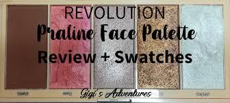 revolution praline face palette review