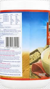 nutrition facts label font quaker oats