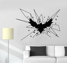 Vinyl Wall Decal Geometric Gothick Style Raven Bird Crow Stickers 2705ig Ebay