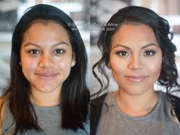 bridal makeup curly side updo