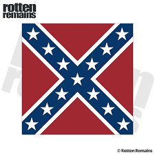 Rebel Confederate Civil War Battle Flag Sticker Decal Square Rotten Remains High Quality Stickers Decals
