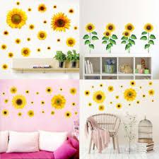 Spring Garden Plants Wall Stickers Sunflower Wall Decal Kids Baby Room Art Decor Ebay