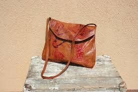 vintage india bag leather indian