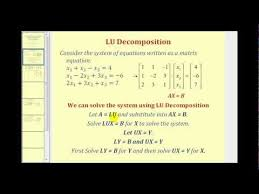 solve a system of linear equations