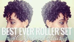 best ever roller set on 4c natural hair