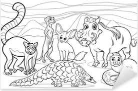 Fotobehang Zoogdieren Dieren Cartoon Kleurplaat Pixers We