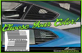 American Flag Quarter Window Decal Universal For Challenger Chrysler 300 Porsche Ebay