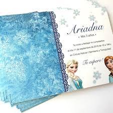 Invitaciones Tarjetas Frozen Cumpleanos Ana Elsa Olaf Unicas 25 00 En Mercado Libre