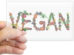 Amazon Com Cafepress Vegan Vegetable Rectangle Bumper Sticker Car Decal Home Kitchen