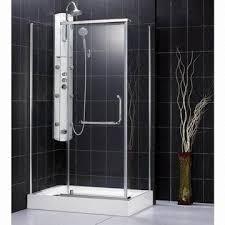 glass shower enclosure pivot door with